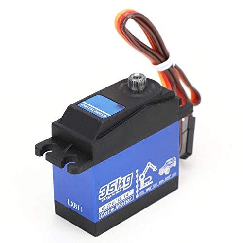 WANGYOUCAO Servo analógico Impermeable de Nailon y 45 Fibras de Alto par de torsión, para vehículos de Control Remoto 1:10 y 1: 8 (Negro)