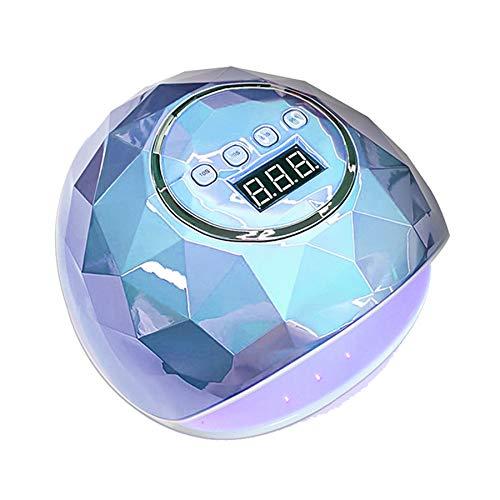 MODRYER Secador De Uñas Lámpara Clavo 110W LED/UV con 4 Modos De Temporizador, con Sensor Automático, Esmalte De Uñas, para Uñas/Uñas De Los Pies,Blue
