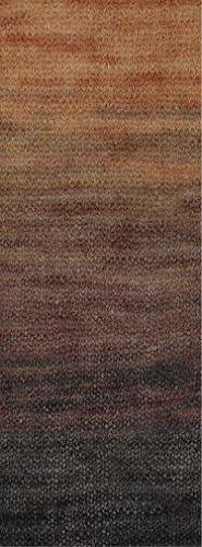 Lana Grossa Silkhair print 351 - Marone/Dunkelbraun/Schwarzbraun