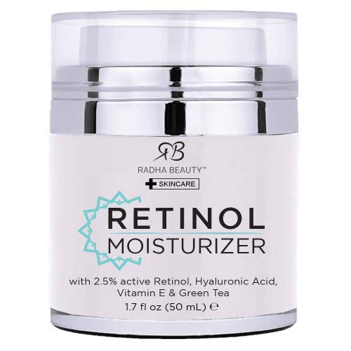 Radha Beauty Retinol Moisturizer Miracle Cream for Face - with Retinol, Hyaluronic Acid, Vitamin E...