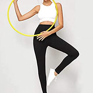 YKDY Yoga Trousers Yoga Motion Stitching Leggings Sports Leggings (Color : Black, Size : M)