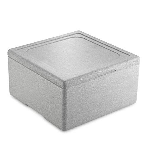 thermohauser Neopor-Thermobox Pizza grau, mit Deckel, Außen 41,0x41,0x23,0 cm, 21 L