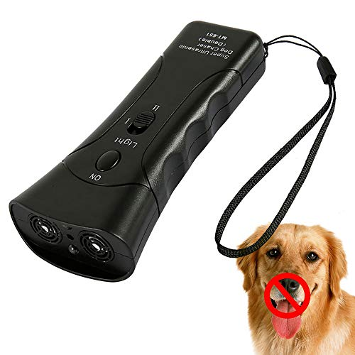 ODOMY Handheld Anti Baking Device, Ultrasonic Dog Deterrent Training Silencer Stop Barking, Outdoor Electronic Pet Gentle Repellent Control Trainer...