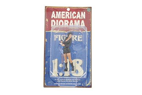 Disfraz de Diorama americano de Babe Brooke, color negro 23870  escala 1:18 accesorio de diorama pintado a mano