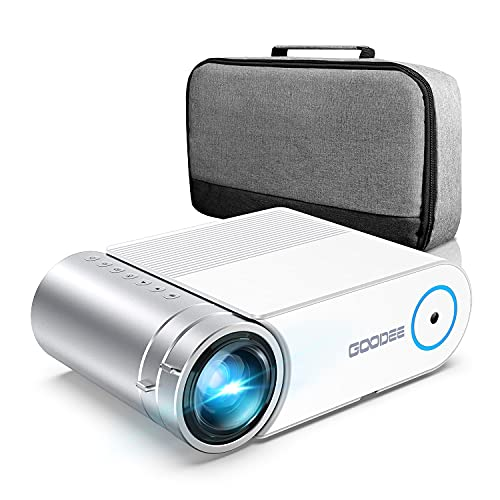 Mini Projector, GooDee 2021 Home Theater Movie Projector,1080p Full HD...