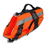 Apetian Dog Life Preserver Dog Life Jacket Dog Life Vest Dog Floatation Swimming Vest (Medium)