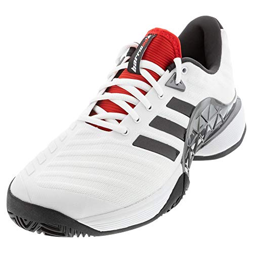 adidas Men`s Barricade 2018 Tennis Shoes White and Black (12 White and Black)
