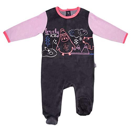 Pyjama bébé velours gris Igloo - Taille - 3 mois (62 cm)