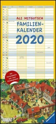 Ali Mitgutsch - Familienplaner 2020 - DuMont-Verlag - Familienkalender mit spannenden Wimmelbildern - Wandplaner mit 5 Spalten zum Eintragen - 22 cm x 49 cm - Küchenkalender