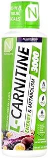NutraKey L-Carnitine 3000 Liquid Fat Burner, (Passion Berry) 31 Servings
