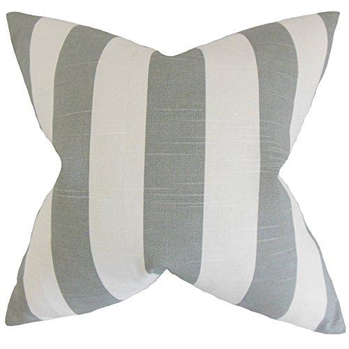 The Pillow Collection Acantha - Funda para Almohada (45,7 x 45,7 cm), diseño de Rayas, Multicolor