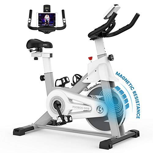 pooboo Indoor Cycling Bike with Magnetic Resistance Exercise Bikes Stationary,Silent Belt...
