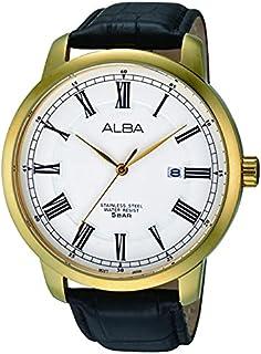 ساعة يد للجنسين من ألبا, جلد, اسود, AS9604X1