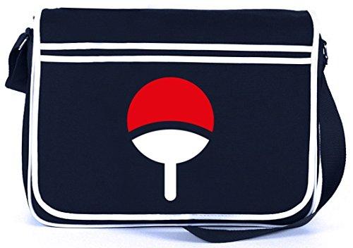 Shirtstreet24, Familie Uchiha, Retro Messenger Bag Kuriertasche Umhängetasche, Größe: onesize,Navy