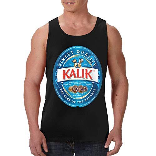 Kalik Logo Camisetas sin Mangas para Hombre, sin Mangas, para Entrenamiento, musculación, Culturismo