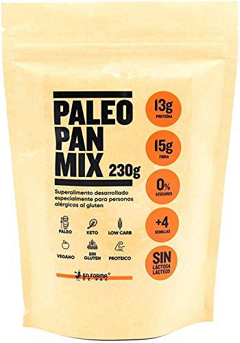 MEZCLA PROTEICA DE PAN PALEO PARA HORNEAR / 230 gramos, Sabor coco + canela + cacao, 0% azúcar, sin gluten Apto para Veganos, Celiacos y diabéticos. EXCELENTE AYUDA PARA CONTROLAR Y BAJAR DE PESO.