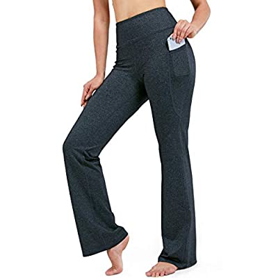 """28""""/30""""/32""""/34"""" Inseam Women's Bootcut Yoga Pants Long Bootleg High-Waisted Flare Pants with Pockets"""