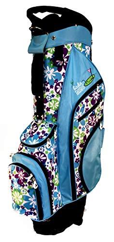 Birdie Babe Turquoise Flowered Ladies Hybrid Golf Bag for Women