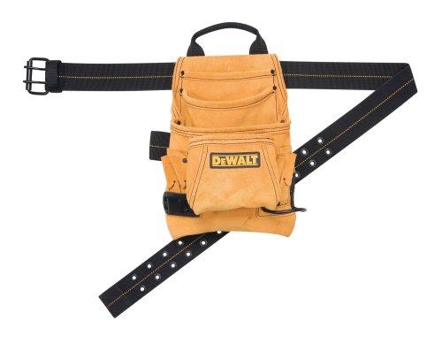 DEWALT DG5333 Carpenter's Suede Nail and Tool Bag, 10 Pocket