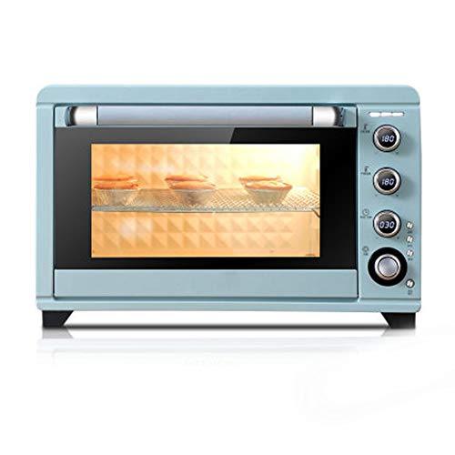Digitale Ofen, Auftauprogramme Kindersicherung Energiesparmodus Glasdrehteller Edelstahl Automatische Anzeige Garzustands, 45L, Blau