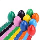 ♥ 【Fácil de sostener para manos pequeñas】 Los crayones de huevo para niños pequeños están diseñados con forma de huevo redondo. El diseño ergonómico los hace fáciles de sostener y garabatear cómodamente para los niños pequeños. .