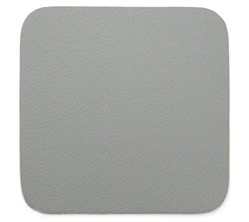 ASA 7836420 Untersetzer - Glasuntersetzer - Kunstleder - Cement/Grau 10 x 10 cm