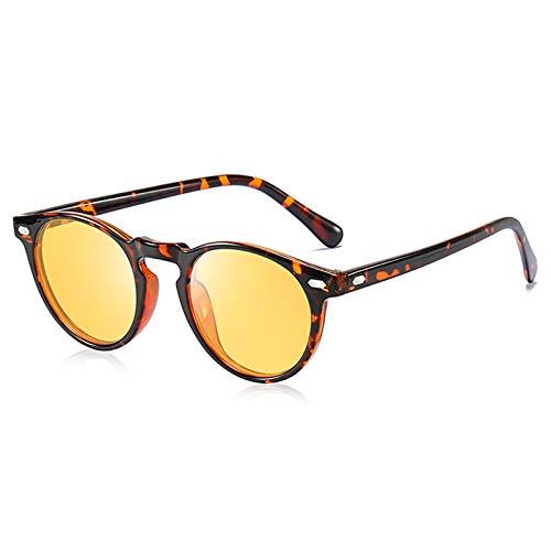 AKRAY Nachtfahrbrille auto Polarisiert Damen Nachtsichtbrille Autofahren Gelb getöntes HD-Sichtglas Fahrbrille A576 (Tortoise)