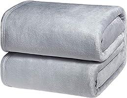 Bedsure Plaid Couverture Polaire - Couverture de Lit Douce et Chaude Plaid Jeté de Canapé Flanelle