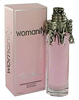 Womanity by Thierry Mugler for Women, Eau de Parfum Refillable Spray, 2.7 Ounce