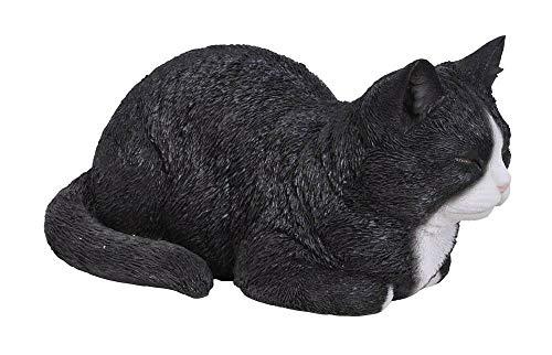 Vivid Arts Dreaming Cat Ornament - Black and White