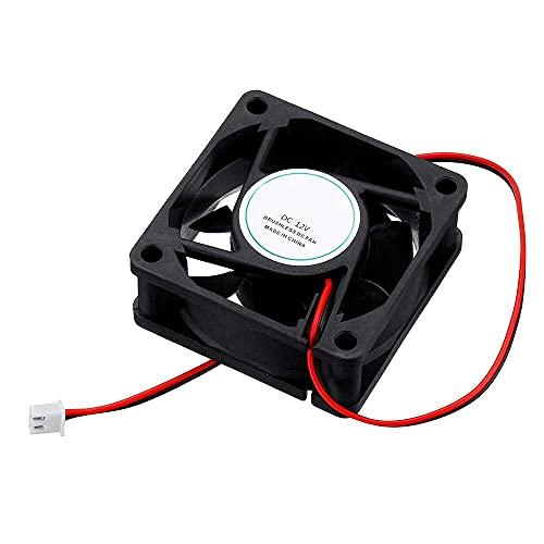 YJDSZD Componentes electrónicos 2 uds 12v 6025 60 * 60 * 25mm Ventilador de refrigeración con Cable de 2 Pines Compatible con Impresora 3D