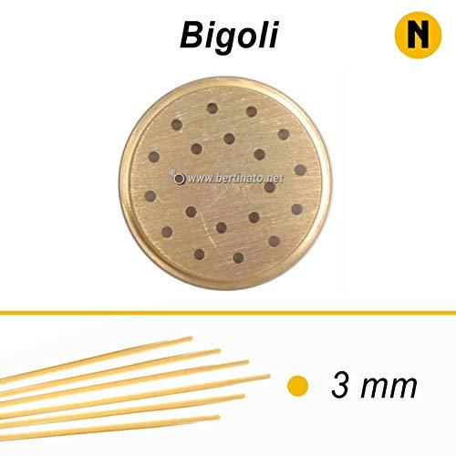 Trafila in bronzo per Pasta Bigoli per macchina pasta fresca professionale La Fattorina 1,5kg compatibile con FIMAR MPF 1,5