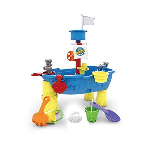 Out Toys zand en water speeltafel, piratenschip met Water Wheel en Waterval, een tal van accessoires om te genieten van Zand of Water Play