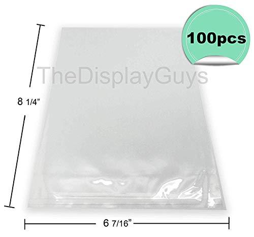 "The Display Guys, 100 Pcs 6 7/16"" x 8 1/4"