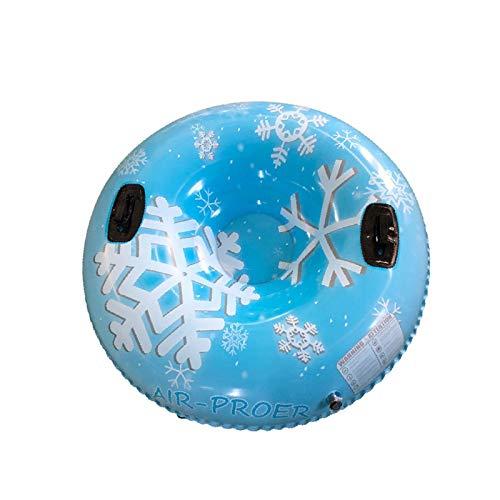 MYPB Anillo de esquí Inflable de esquí 120 cm Tablero de esquí de Invierno Círculo con Asas de reclinable Diseño Respaldo Resistente al frío Tubo de Nieve de Invierno F12.10