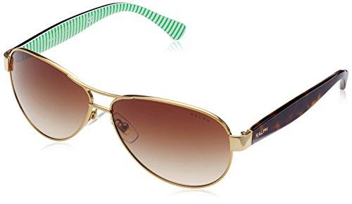 Ralph Lauren RALPH BY Ra4096 Gafas de sol, Gold/Cream, 59 para Mujer