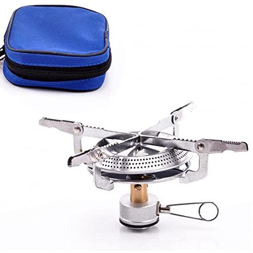 Ruluti Portátil Estufa De Camping Gas Mini, Estufa a Prueba De Viento con Mochila con Piezo De Encendido del Quemador Cocinar Aire Libre De La Comida Campestre