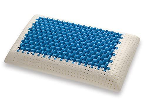 Marcapiuma Blue Air Massage - Cuscino in Memory, Inserto Ultra Traspirante effetto massaggio, Fodera di protezione 100% Cotone, Guanciale Memory Ortopedico, 72 x 42 x 12 cm