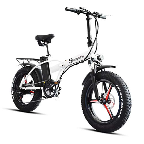Shengmilo Bicicleta eléctrica MX20-PLUS 500W, Bicicleta eléctrica Plegable de una Rueda de...