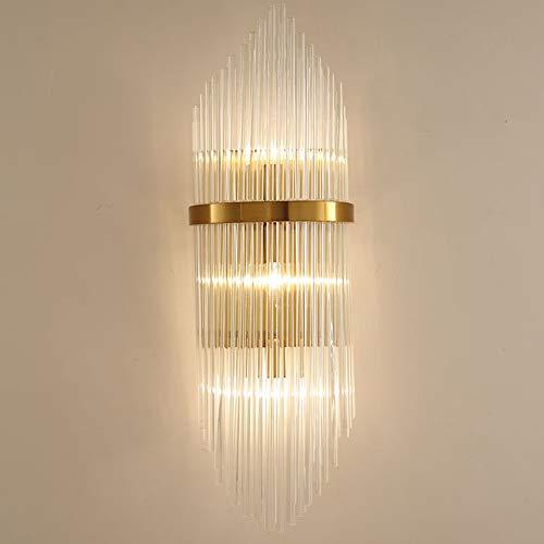 LCSD Lámpara de Pared Luz De Lujo Nórdico Creativo Lámpara De Pared De Cristal De Metal Iluminación 3-15 Metros Cuadrados Dormitorio Sala De Estar Comedor Estudio Hotel (Size : S)