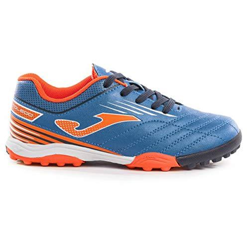 Joma Chaussures de Football pour Enfant Toledo JR Turf 904 Royal, TOLJS_904_TF_30, Bleu Roi, 30