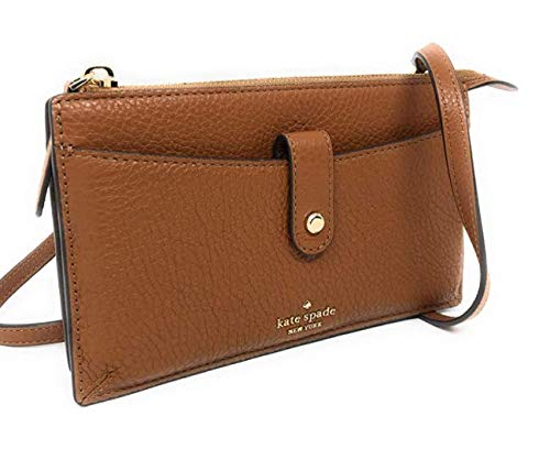 Kate Spade New York Small Tab Leather Crossbody Warm Gingerbread Brown