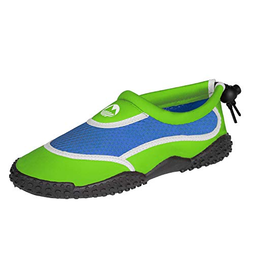 Lakeland Active Children's Protective Eden Water Shoes - Green/Blue/White - Kids 8 UK