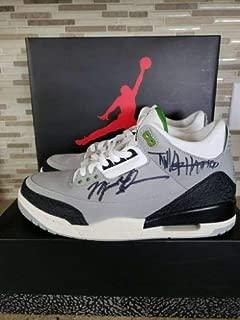 Michael Jordan Tinker Hatfield Autographed Signed Air Jordan 3 Retro Shoes Autographed Signed JSA