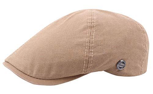 AIEOE - Boinas de Hombre Primavera Verano Gorro de Plano al Aire Libre Sombrero de Sol Flat con Visera Cap Casual Clásico Unisex - Beige