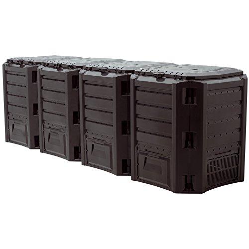 "Prosper Plast iklm1600C-s411261x 71,9x 82,6cm Modul""Compogreen Komposter–Schwarz (2-teilig)"