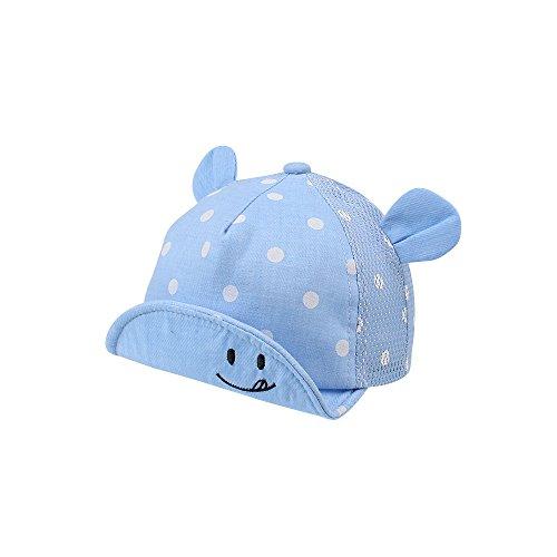 Pesaat Baseballkappe Baby Junge Schirmmütze Baby Sommer Mädchen mit Größenregulierung Baby Baseball Cap (Azur-B, 6-24Monate)