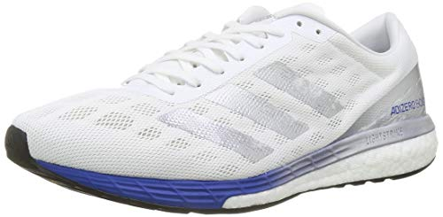 adidas Men's Adizero Boston 9 m Sneaker, FTW Bla/Plamet/Azure A, 6 UK