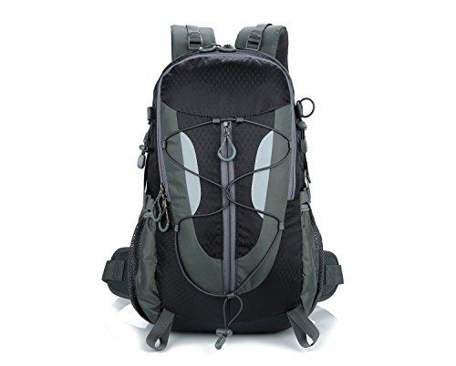 Lily's Locker - Mujer y Hombre 30L Mochila con Múltiples Almacenamiento Compartimiento para Senderismo Camping Viajes Montañismo Trekking o Escuela 29 x50 x18CM (Negro)