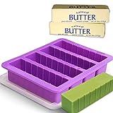 Bandeja de silicona para mantequilla con tapa, color morado